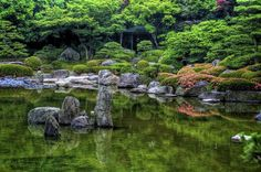 Ohuri Park in Fukuoka, Japan. This garden serves as a quiet escape from the hurried Japanese life.