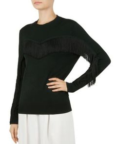 0617a322c Ted Baker Aniebal Fringe Sweatshirt Ted Baker - Women s Clothing -  Bloomingdale s