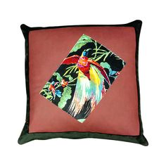 Complete a stylish interior with this Faux Leather Bird Cushion 50 x Made from a plush velvet blend. Color Pop, Colour, Handmade Cushions, Outdoor Cushions, Cushion Covers, Searching, Decorative Pillows, Florals, Marble