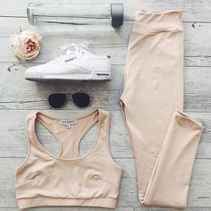 Work out in style in our 'Push Through crop top in nude' and our 'The Limits tights in nude' ✨ Shop now via the link in our bio #showpo