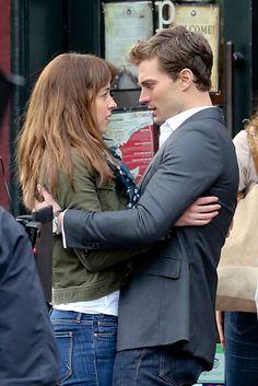 Jamie Dornan, Dakota Johnson Get A Little Closer On 50 Shades Of Grey Set. http://slntd.co/19Y742K