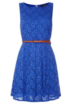 Flower Lace Belted Dress