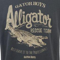 Gator Boys Alligator Rescue Team T-Shirt - Grey | Shows | Gator Boys | Animal Planet