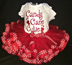 Candy Cane Cutie embroidered bodysuit and by BoutiqfullyYours