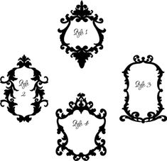 Baroque Frames 2 | Wall Decals: style 2 or 3?