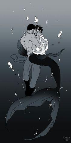 KillChalla || Black Panther || Cr: skaky Mermaid Boy, Anime Mermaid, Fantasy Creatures, Mythical Creatures, Fantasy Character Design, Character Art, Art Sketches, Art Drawings, Mermaids And Mermen