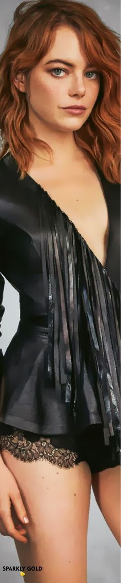 Vinyl Outfits, Actress Emma Stone, Grazia Magazine, Vinyl Clothing, Superbad, Diane Keaton, Celebs, Celebrities, Strike A Pose