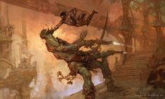 John Carter Punches a Thark