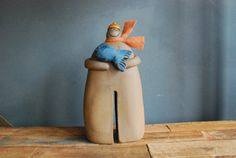 Cute ceramics for a nursery by HappyPeopleArt via Etsy