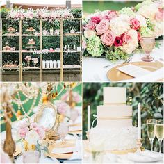 If you saw Part 1 of this stunning wedding, wait until you see the rest of this perfectly pink and gold wedding reception. Sue and Don tied the knot with a lovely outdoor reception and continued the party with a reception that was decorated with the prettiest flowers, gold painted books, a makeshift polaroid photo […]