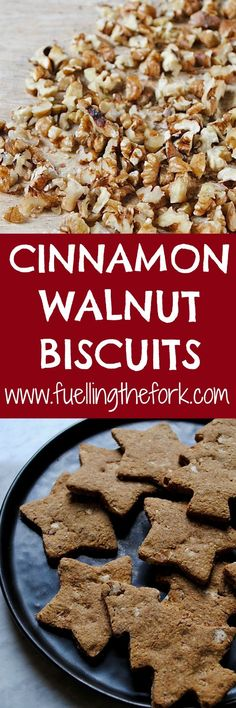 These vegan cinnamon walnut cookies are exactly the kind of biscuit we all love to eat: simple yet flavourful, unbearably moreish and made from ingredients you already have in your store cupboard. Vegetarian Desserts, Healthy Dessert Recipes, Healthy Baking, Cookie Recipes, Snack Recipes, Healthy Recepies, Brunch Recipes, Bread Recipes, Vegan Recipes