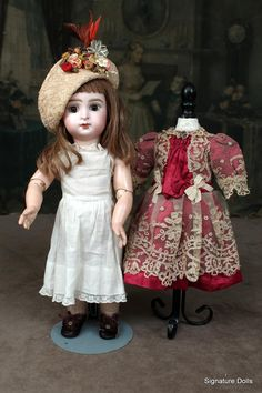 Offered is this wonderful example of Jumeau's Paris Bebe in a small 12.5 size. Considered a character doll by most collectors because of her