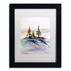 Wendra 'Little Island' Matted Framed Art