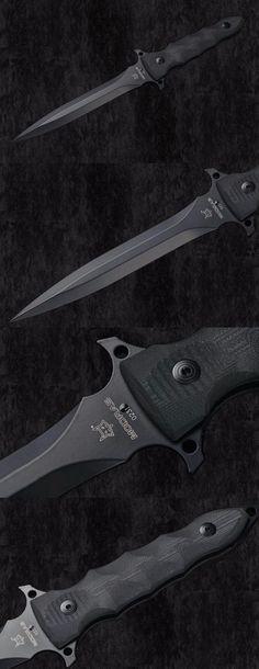 Fox Modras Dagger Black G-10 Fixed Combat Knife Blade