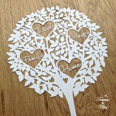 Love Happy Family Home Tree  Papercutting by TommyandTillyDesign