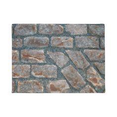 Ancient Red Brick Walkway In Old Montreal Door Mat