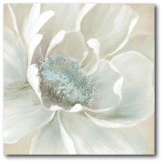 "16 in. x 16 in. ""Winter Blooms I"" Canvas Wall Art"