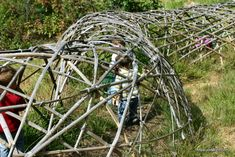 Bamboo play tunnel.  great place to grow beans, peas, cucumbers or morning glory..
