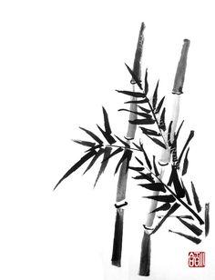 Bamboo 2 - sumi-e by SayuriMVRomei.deviantart.com on @deviantART