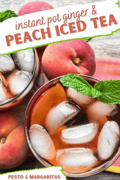 Summer is just around the corner and we have got a delicious recipe for you! This ginger peach iced tea can be made in your Instant Pot. It's so easy to make, even if you don't consider yourself much of a cook at all. You will love this flavor combo and it pairs beautifully with any summer party menu that you may be hosting soon! Get ready to enjoy some refreshing drinks as the weather heats up! Ginger Peach, Ginger And Honey, Fresh Ginger, Making Iced Tea, Making Yogurt, Peach Ice Tea, Iced Tea Recipes, Instant Pot Pressure Cooker, Pressure Cooking