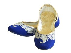 Blue-Golden-Punjabi-Jutti-01