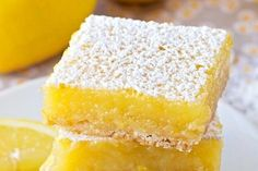Homemade Lemon Bars From Scratch Sugar Free Recipes, My Recipes, Sweet Recipes, Dessert Recipes, Biscuits, Brunch, Lemon Cookies, Lemon Bars, Plum Cake