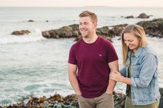 We laughed our way through the whole session, as we climbed up rocks & adventured along the beach creating these portraits together. Pete & Alex were just so much fun to hang out with! Opening Weekend, Make New Friends, Getting To Know You, Wonderful Time, Hanging Out, Engagement Session, Portrait Photography, In This Moment, Couple Photos