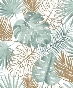 Tropical Leaves by Albany - Green : Wallpaper Direct green Tropical Leaves by Albany - Green - Wallpaper : Wallpaper Direct Tropical Wallpaper, Green Wallpaper, Pattern Wallpaper, 3d Wallpaper Texture, Aztec Wallpaper, Artistic Wallpaper, Palm Wallpaper, Metallic Wallpaper, Contemporary Wallpaper