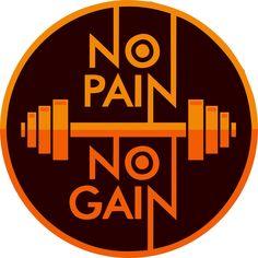 vetor estampa no pain no gain