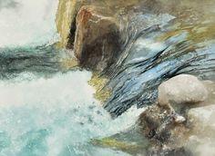 飛沫,Splash,Original Watercolor painting by Masato Watanabe