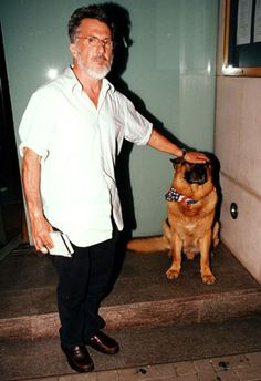 Dustin Hoffman and his companion