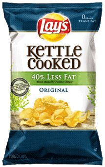 LAY'S® Kettle Cooked Reduced Fat Original Potato Chips