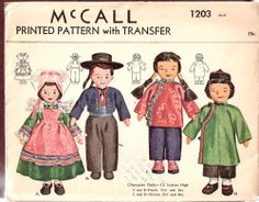 McCall 1203 ©1945 French & Chinese dolls