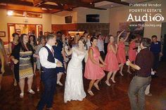 """Friend of the bride Chance Phebus taught the guests a great county line dance, to the no-so-country """"Men in Black"""" by Will Smith. http://www.discjockey.org/real-chicago-wedding-sept-3-2016/"""