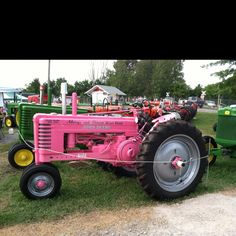 pink tractor <3 Galaxy Ice Cream, Pink Tractor, International Tractors, Pink Cars, Farming Life, Pink Stuff, John Deere Tractors, Down On The Farm, Everything Pink
