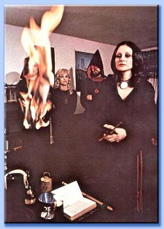 Lillith Aquino leading a ritual in the late 70's...