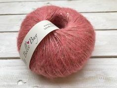 Mohair Yarn and Sequins Made in Italy Soft - Pink