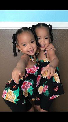 Bob Hairstyles For Black Hair Cute Mixed Babies, Cute Black Babies, Beautiful Black Babies, Cute Twins, Cute Little Baby, Pretty Baby, Beautiful Children, Baby Love, Cute Babies