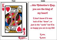 Giant Valentine's Day Card. Give your King the card he deserves. Available in 2', 3', and 4' sizes. FREE SHIPPING