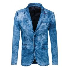 Tieňovaná pánske sako džínsového vzhľadu - fashionday.eu Blazer, Jackets, Fashion, Self, Down Jackets, Fashion Styles, Jacket, Blazers, Fashion Illustrations