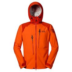 70102637af Jack Wolfskin MEN EXOLIGHT TEXAPORE JACKET - Flame Orange, S Dzsekik, Kert,  Divat