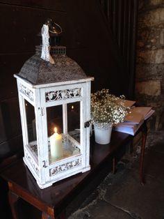 Lantern in church foyer