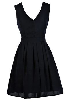 This classic and simple party-perfect look has 'fun' written all over it.  The Ready To Party A-Line Dress is fully lined. It has a V neckline, wide shoulder straps, and a banded empire waist. The best part of this dress has to be the pleated A-line skirt with an invisible layer of tulle underneath for volume. You'll feel like a doll in this dress! An exposed back zipper completes this look. The Ready To Party A-Line Dress is a simple dress that makes a big impact. It can be accessorized so…