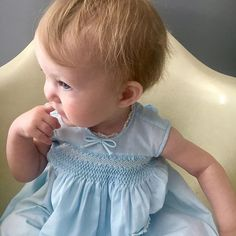 This is my lovely daughter Beatrix in her vintage @feltmanbrothers dress that is 36+ years old. Once worn by her Aunts , it's absolutely timeless. This classic style is what we try to create when we are sewing baby clothes for our #pipersgirls patterns. #heirloombaby #heirloombabyclothes #vintagebaby #babygirldress #smocking