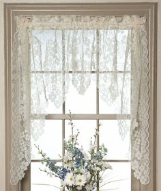 I love these. lol White Lace Swag Curtains | Swag Curtains