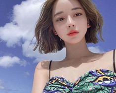 Beauty anything - 📍Instragram : taeri__taeri Black Hairstyles With Weave, Side Part Hairstyles, Weave Hairstyles, Cute Asian Girls, Cute Girls, Short Hair Cuts For Women, Short Hair Styles, Tmblr Girl, Short Choppy Hair