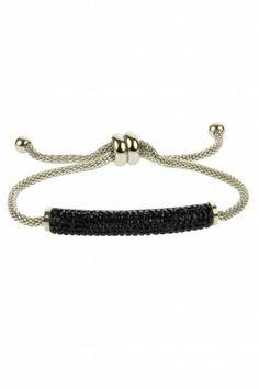 RVS Armband Mariah - Black - bracelet, available at sazou.nl