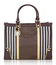 Brown  Studded Tote | Handbags | Henri Bendel