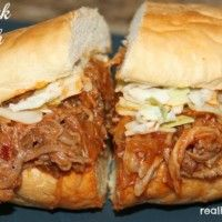 Pulled Pork Sandwich #realhousemoms.com
