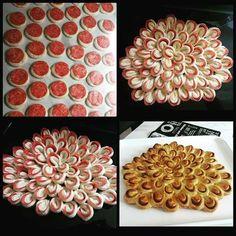 Pâine floare cu felii de salam Recipes, Food, Dark Around Eyes, Recipies, Essen, Meals, Ripped Recipes, Yemek, Cooking Recipes